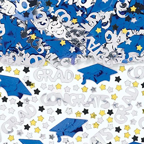 Amscan 368281.105 Confetti, 2 1/2oz, Bright Royal Blue ()