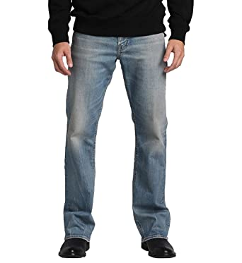 474f415d Silver Jeans Co. Men's Zac Relaxed Fit Straight Leg Jeans with Flap  Pockets, Comfort