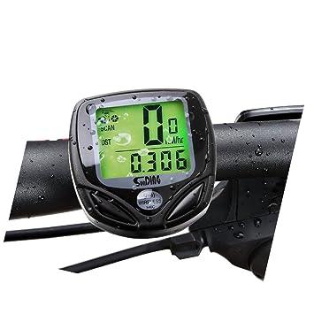 Velocímetro Suparee deportivo inalámbrico para la bicicleta con pantalla LCD para los amantes de las dos ruedas (negro): Amazon.es: Deportes y aire libre