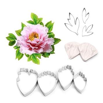 AK arte hoja y flores de cocina cortador de acero inoxidable Kit de herramienta 7pcs 2