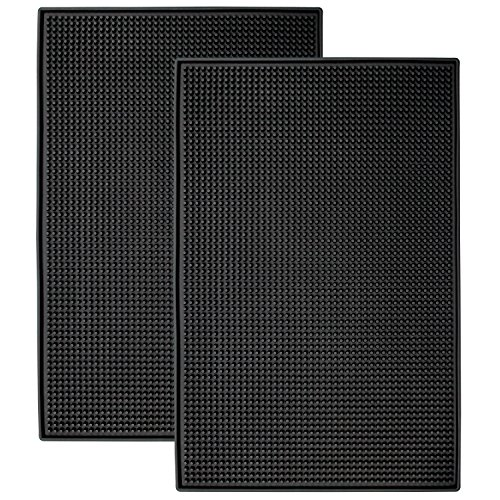 S&T 428001 Heavy-Duty Rubber Bar Mats - 11.9