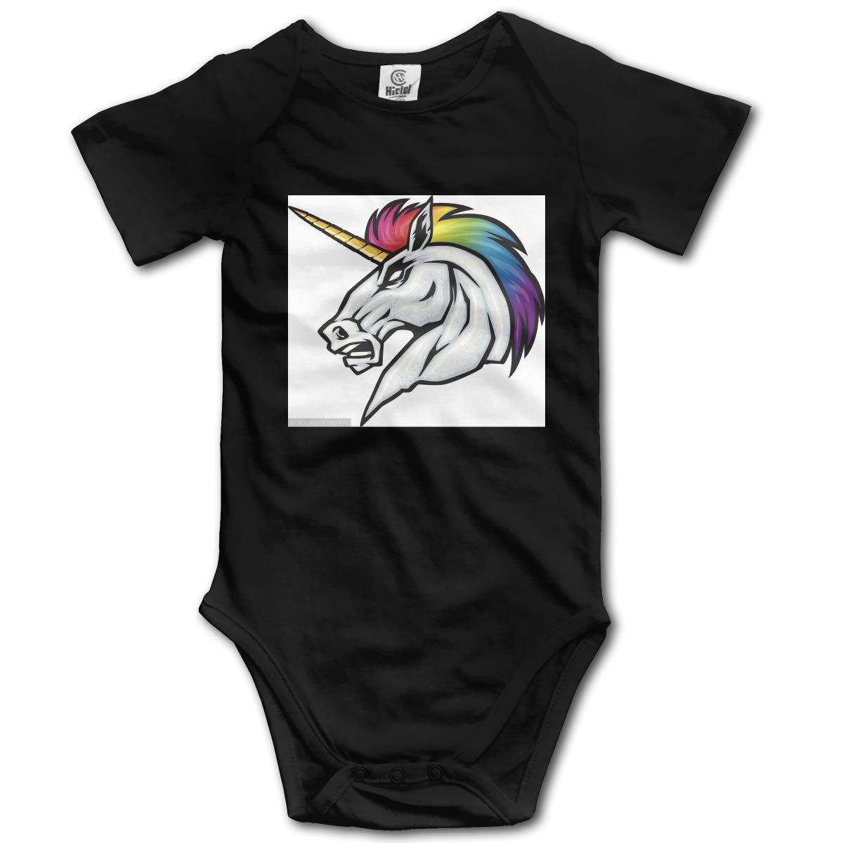 Lucky Rainbow Horse Hip Hop Newborn Baby Short Sleeve Bodysuit Romper Infant Summer Clothing