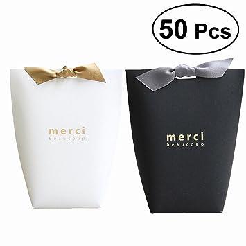 Amazon.com: 50 cajas de papel para regalos de boda ...