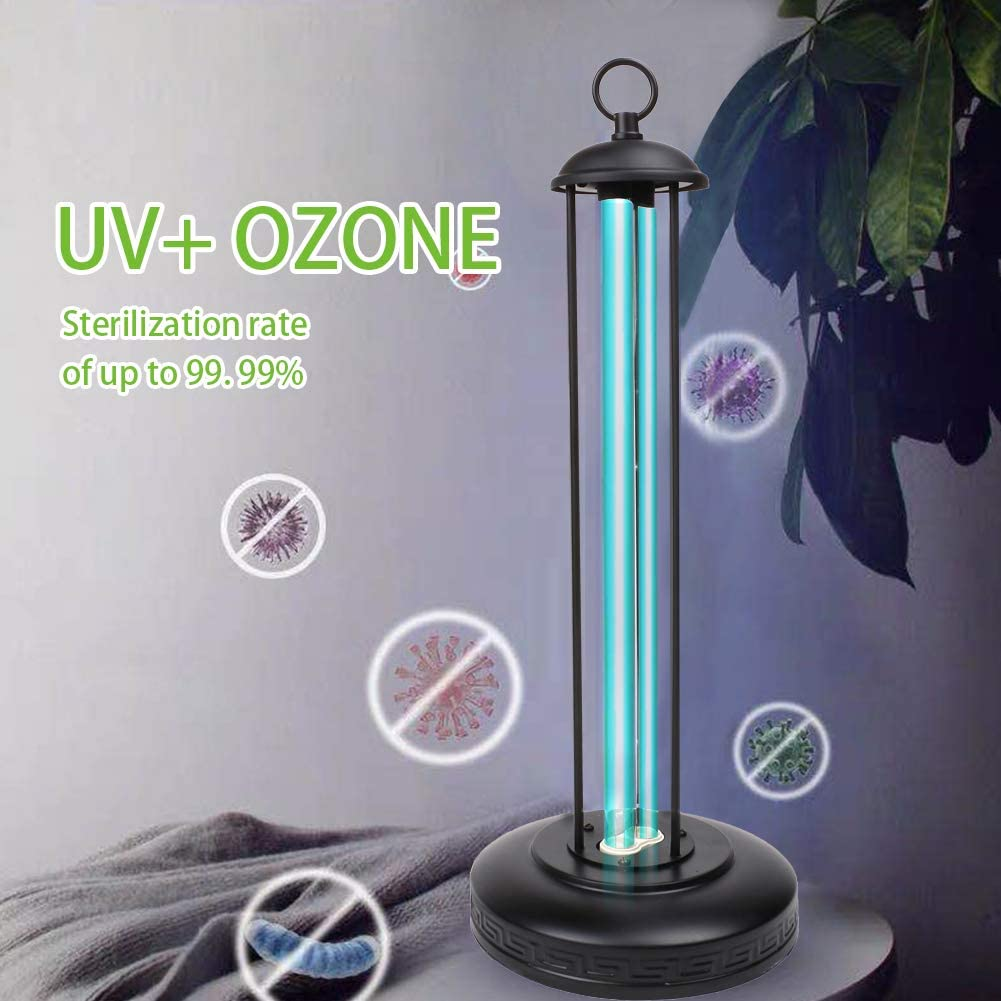 UV Ozone Disinfection Light with Remote Control 110V 36W Kills Mold Bacteria Germs Viruses for Home Air Cleaning Ultraviolet Germicidal Lamp