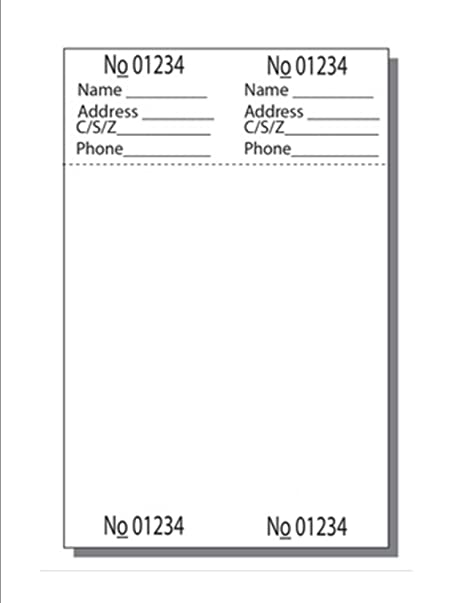 amazon com print ready numbered ticket sheets 4 1 4 x 6 1 2 2