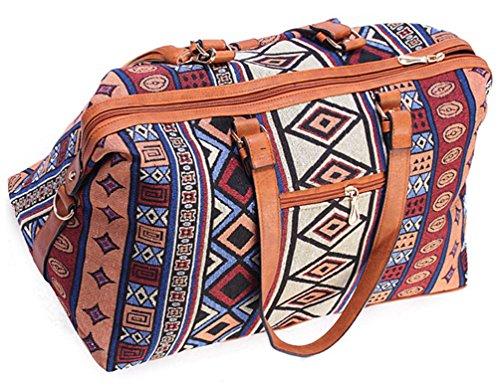 YiLianDa Bolso de Mano Bolso de Lona las Mujeres del Deporte Excursión Viaje D