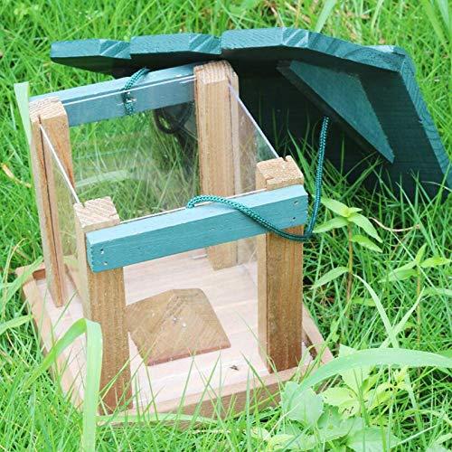 jard/ín comedero de semillas para p/ájaros peque/ños Comedero para p/ájaros MiXXAR para p/ájaros silvestres colgantes 21,5 x 11 x 13 cm exterior
