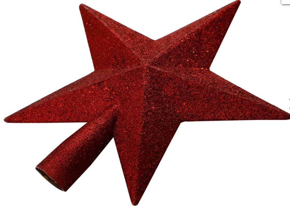 Christmas Tree Topper Star (Gold) Christmas Shop