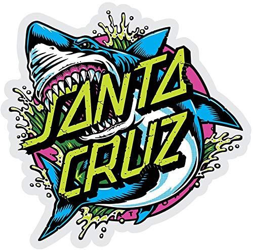 Santa Cruz Skateboard / Surf Sticker - Shark Dot - Approx 15.5cm wide. surfing skating board surfboard (Santa Cruz Stickers)
