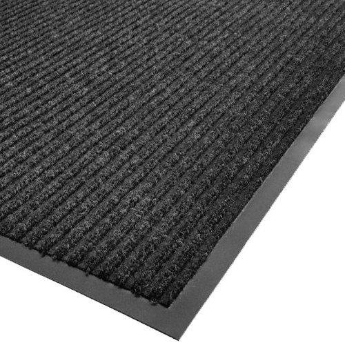 (Cactus Mat 1485M-L46 4' x 6' Charcoal Needle Rib Carpet Mat - 3/8