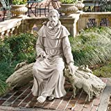 Design Toscano In Nature's Sanctuary St. Francis Garden Statue For Sale