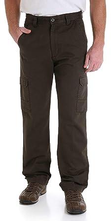 8ca57140 Wrangler Genuine Men's Twill Cargo Pants at Amazon Men's Clothing store: