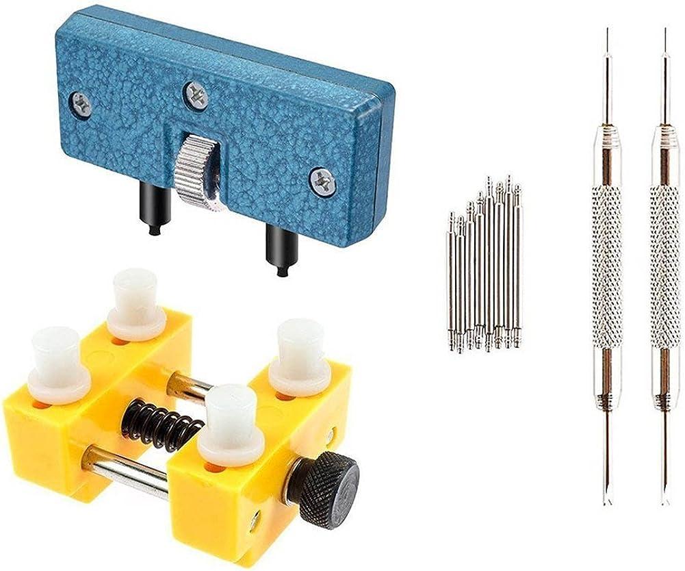 Herramientas Abrir Relojes Relojero Profesional - STAGO 12 Piezas Kit Reparacion Abridor Reloj Ajustable: Amazon.es: Bricolaje y herramientas