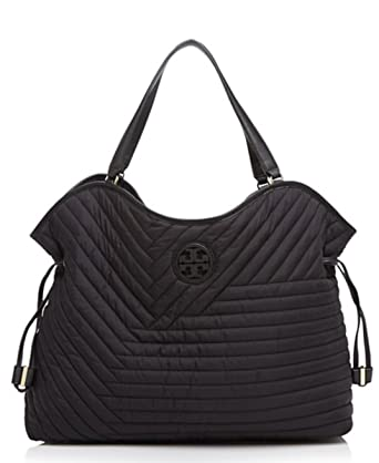 Amazon.com | Tory Burch Quilted Nylon Slouchy Tote | Travel Totes : tory burch quilted tote - Adamdwight.com