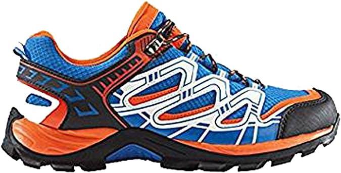 Crivit - Zapatillas de Senderismo para Hombre Naranja Blau-Orange-Weiß 44: Amazon.es: Zapatos y complementos