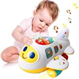 sunwuking Airplane Toy for Kids - First Plane with Light & Music Toy Airplane Baby Sing and Move Around