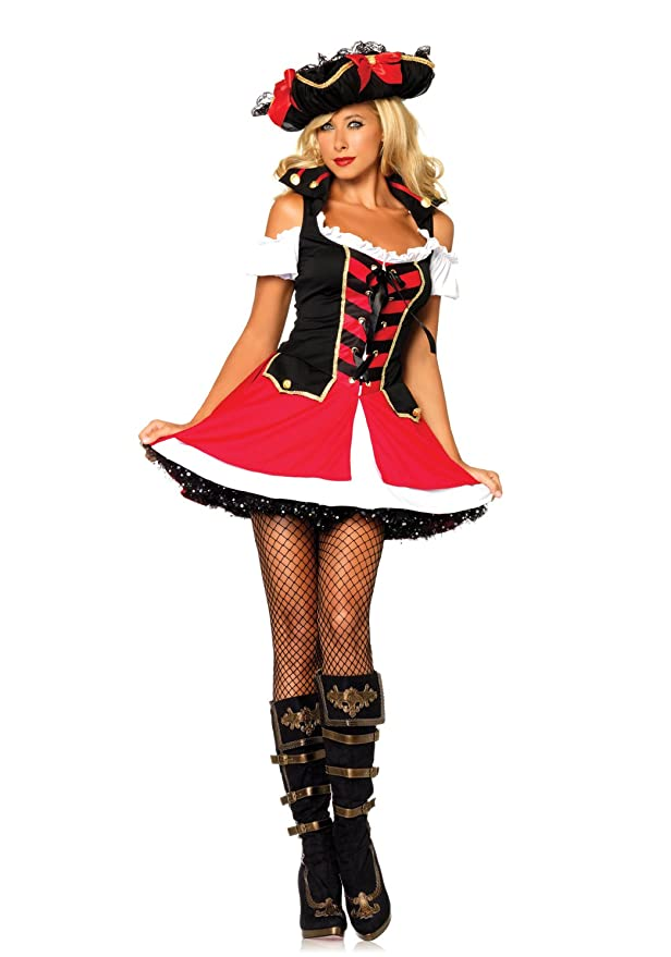 Leg Avenue - Disfraz de pirata para mujer, talla UK 8-10 ...