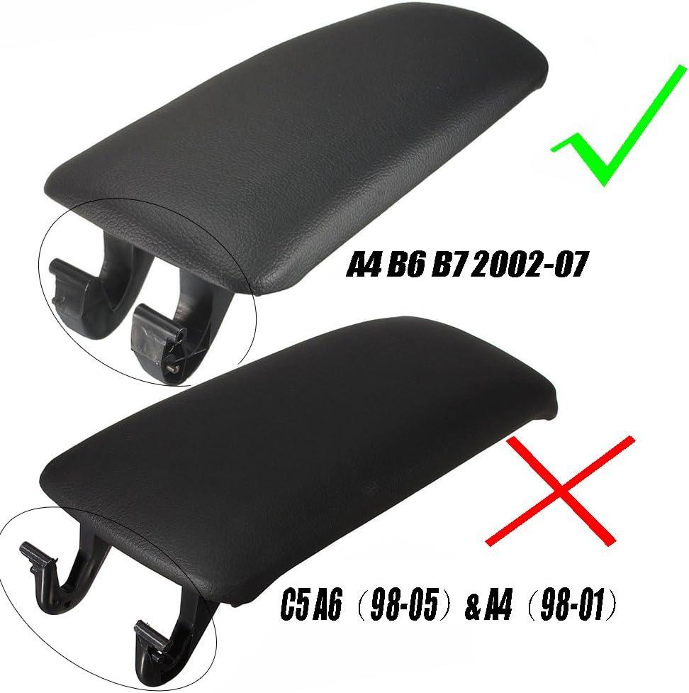 02-07 A4 Funda para reposabrazos de consola de brazo color negro B6 B7