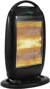 Cecotec Radiador de Cuarzo Ready Warm 7200 Quartz Rotate Smart. Mando a Distancia, Digital, Temporizador, 3 Potencias, Oscilación, Rejilla de Seguridad, Sistema Anti vuelco, 1200 W