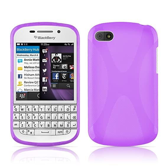 save off df4ad 01bec Amazon.com: Cadorabo Case Works with BlackBerry Q10 Ultra Slim TPU ...
