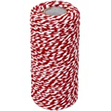 DSYJ Wrap Gift Cotton Rope Ribbon Twine Rope Cord String 100M, Red