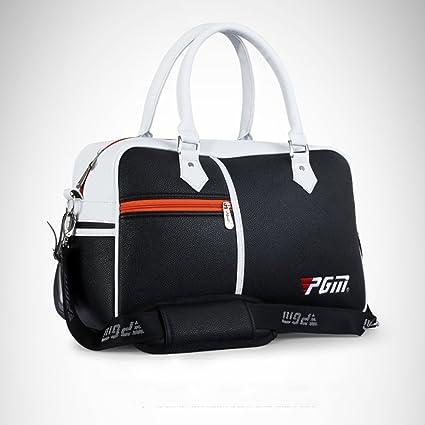 6464620aeb2c Amazon.com : PGM PU Golf Duffle Bag Golf Clothing Bag, Boston Bag ...