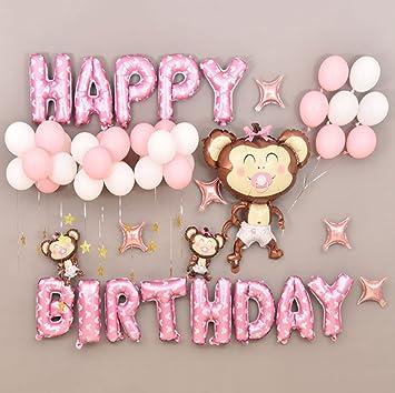 Geburtstag Buchstaben Luftballons Set Geburtstagsdeko Fur Madchen
