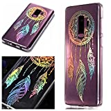 For Samsung Galaxy S9 Plus Case Clear Silicone Phone Cover and Screen Protector, OYIME Creative Plating Design with Bright Pattern Skin Ultra Thin Slim Soft Silicone Rubber Glitter Brilliant Transparent Protective Back Cover Anti-Scratch Drop Protection Shockproof Bumper Cases - Dream Catcher