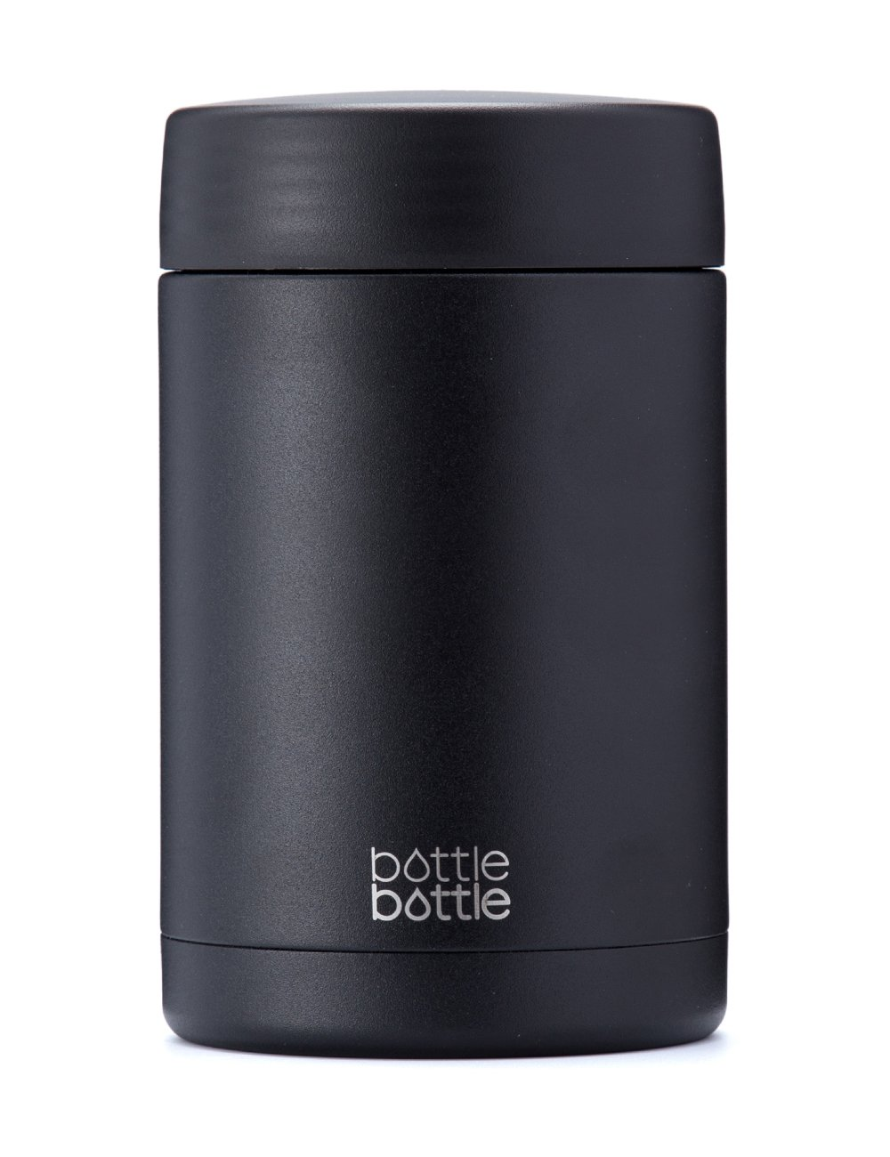 Bottlebottle Vacuum Insulated Food Jar - 500ml Double Wall Stainless Steel Thermos Jar Food Flask Storage Container, Night Black AB011-500-4