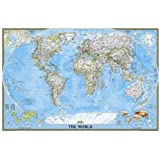 National geographic decorator laminated world wall map with fitted world classic poster size tubed wall maps world national geographic reference map publicscrutiny Images