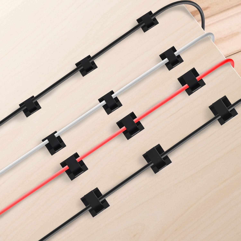 Kabelschellen Selbstklebend 4 Unterschiedliche Gr/ö/ße Klebrige Kabel Halterungen LED Strip Halterung 60 St/ück Kabelbefestigung Selbstklebend Kabelklemmen Selbstklebend Schwarz