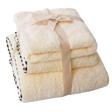 Toalla De Baño De Secado Rápido Y Suave Toalla Beige Set De 3 (1 Toalla