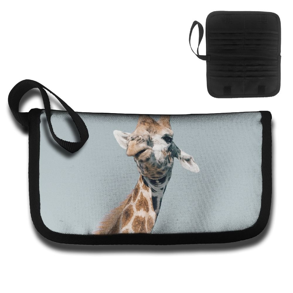 Giraffe Eating Leaves Travel Passport /& Document Organizer Zipper Case