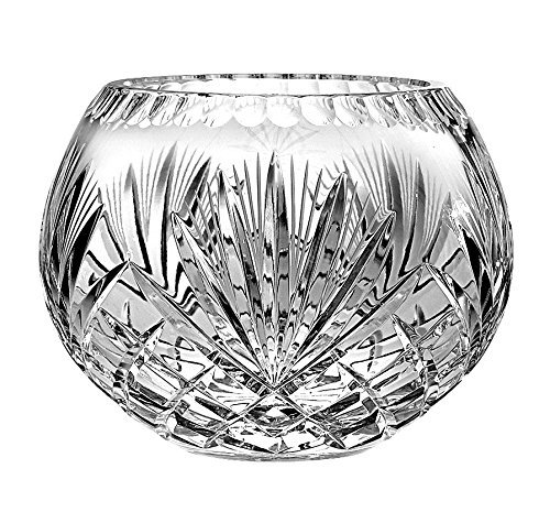 8 D 8 D Barski European Hand Cut Majestic Crystal Rose Bowl