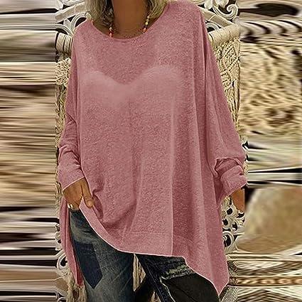 Mujer camiseta,🍒 Madeuf 🍒Top de algodón de manga larga con cuello en V y manga larga para mujer Casual Suelto Blusa Jersey Stripe Shirt Otoño Verano Playa y Fiesta: Amazon.es: Instrumentos musicales