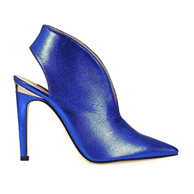 1483903b5eea7f Pinko Women s 1P211FY3ZQF47 Blue Leather Heels  Amazon.co.uk  Shoes   Bags