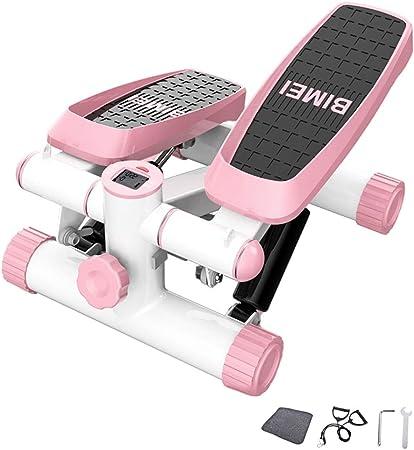 Stepper Ejercicio y Estado físico Mini de Pasos de Escalera Steppers - Paso a Paso Paso portátil con Bandas de Resistencia, Pantalla LCD y Pedales cómodos (Color : Pink): Amazon.es: Hogar