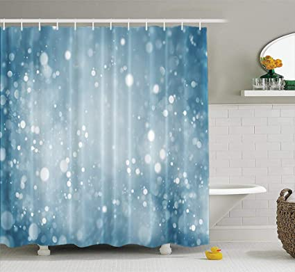 Blue Bathroom Shower Curtains.Amazon Com Lilymua Fabric Shower Curtain Beautiful Abstract
