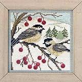 Chickadees - Beaded Cross Stitch Kit MH143303 - Buttons & Beads 2013 Winter