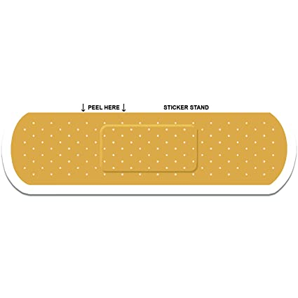 Band aid bandage car decal sticker