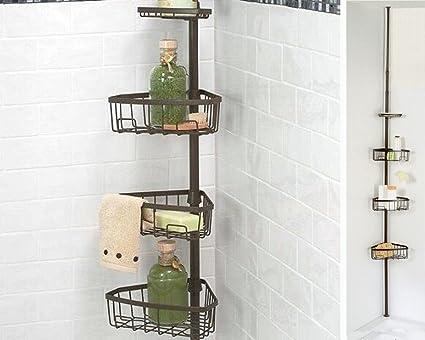 eucool cromado estantería de esquina para baño bañera ducha ...