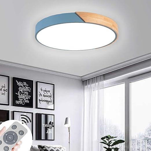 Miwooho Lámpara de techo LED de 36 W, 60 W, 72 W, regulable, con mando a distancia, para salón, dormitorio, cocina, clase energética A++