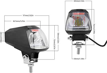 KIMISS KI06993 DC 12V moto 2000lm LED faro lampada del demone con caricatore USB Lampada impermeabile