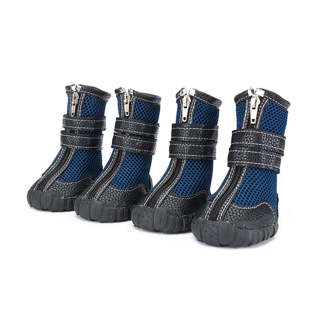 Only Pet Dogs Boots Winter Hiking Shoes XXL, Non Slip Mesh Booties with Rubber Sole, Cool Breathable Large Boots for Sled Dog Golden Retriever Shepherd(Blue Size 11 W2.4 x L3.15) by Only Pet