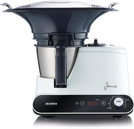 Severin KM 3895 - Robots de cocina, 1050 W, color blanco y negro: Amazon.es: Hogar