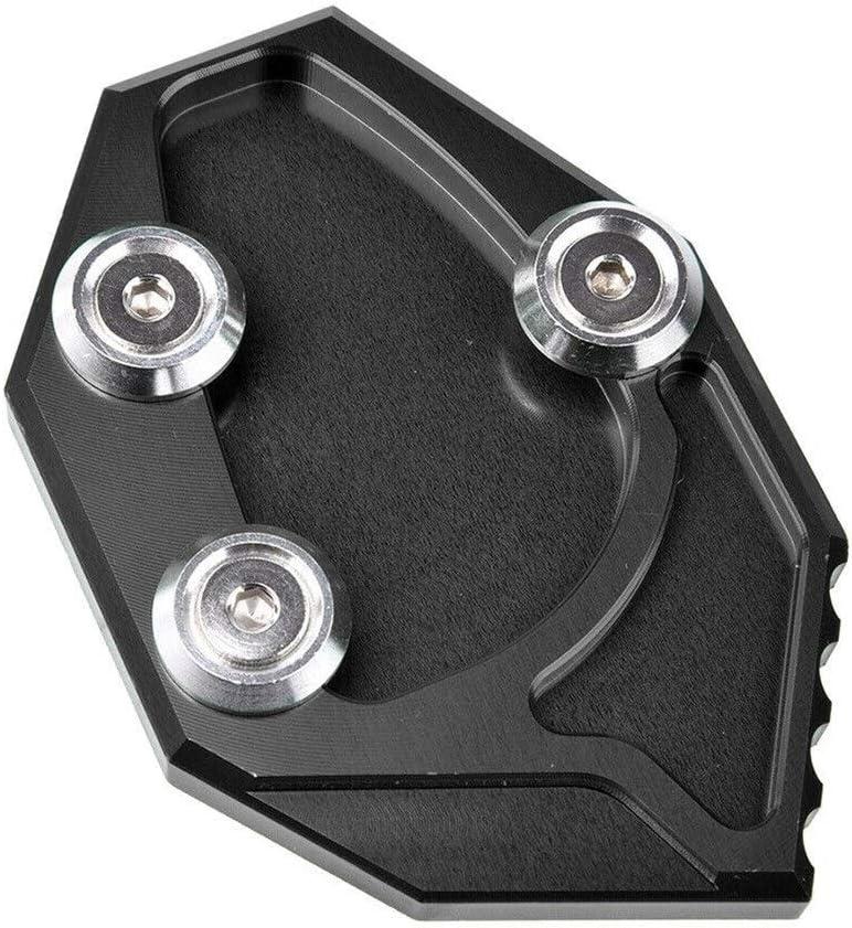 St/änder Motorrad-Seite Kickstand Tr/ägerplatte-Fuss-Auflagen for Kawasaki ZX14R ZX 14R ZZR140 GTR 1400 Inlarge Color : Black