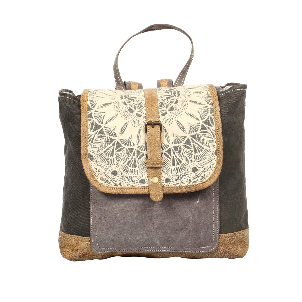 Myra Bag Daisy Delight アップサイクルキャンバスバックパック S-1287   B07MTZJ8H8