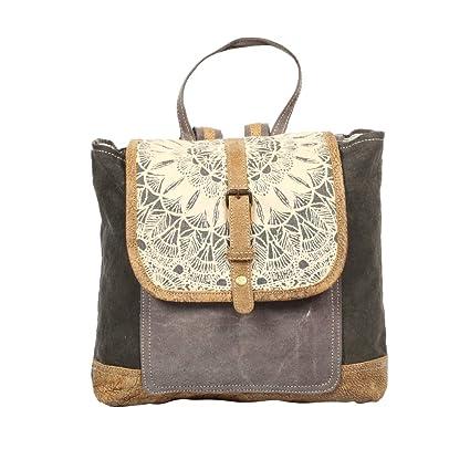 d22b9ca12305 Myra Bag Daisy Delight Upcycled Canvas Backpack S-1287