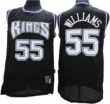 Camiseta Sin Mangas para Hombre - Sacramento Kings # 55 Jason Williams Ropa De Entrenamiento Deportivo Camisa Bordada Clásica Transpirable,Negro,S165~170cm/55~65KG: Amazon.es: Deportes y aire libre
