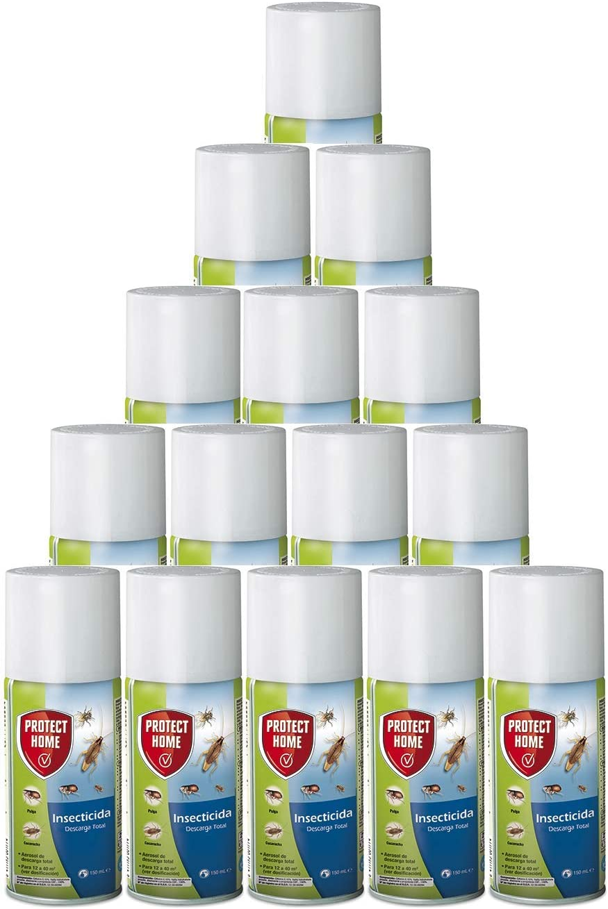 Protect Home - Insecticida Descarga Total, automático, antiguo Solfac, 150ml - Pack de 15 unidades